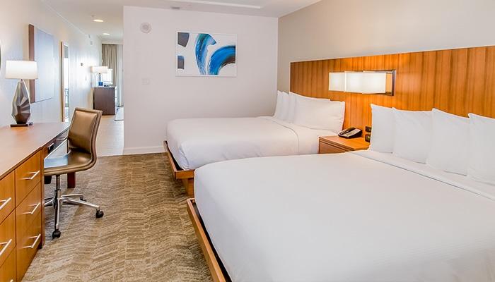 Double Queen Hotel Suite W Bunk Bed Hilton Pensacola Beach Fl